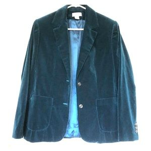 COBBIES | Vintage velvet teal hip jacket